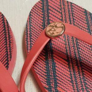 Coach Shoes - COACH💟Salmon Pink Thong Sandals Size 11/12